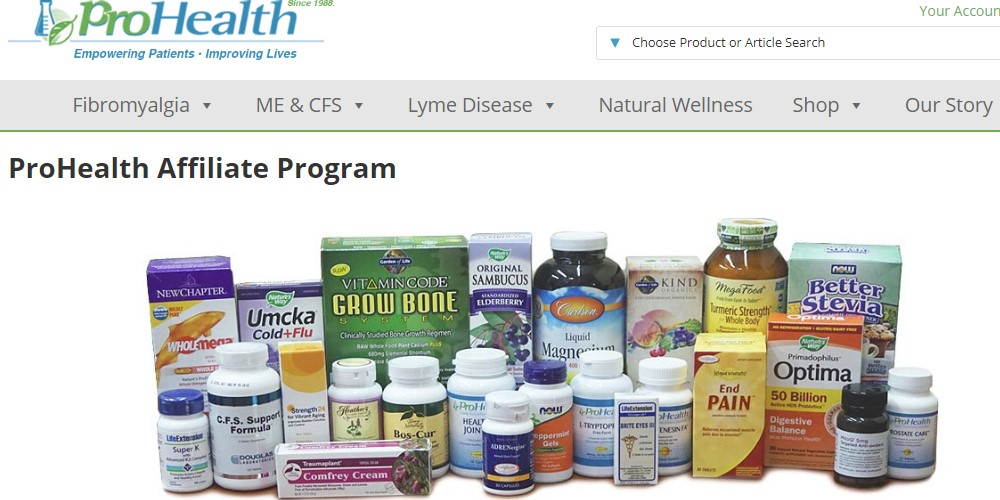 prohealth affiliate sign up page
