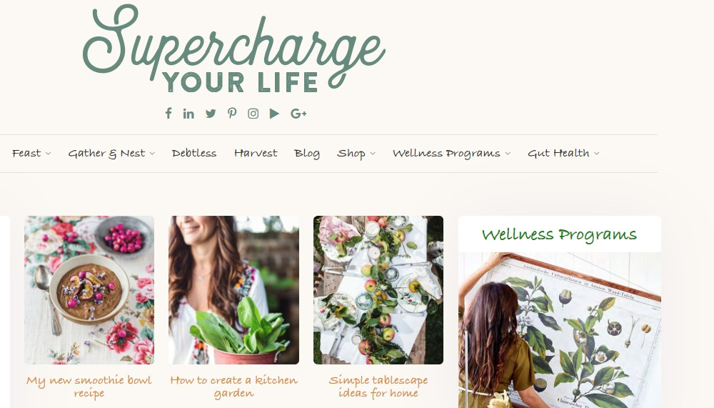 supercharged food home page