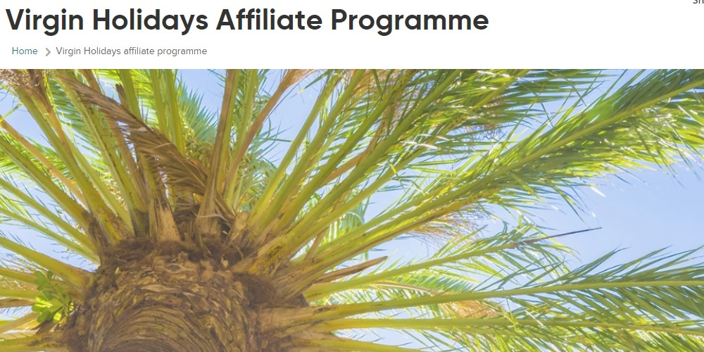 virgin holidays affiliate sign up page