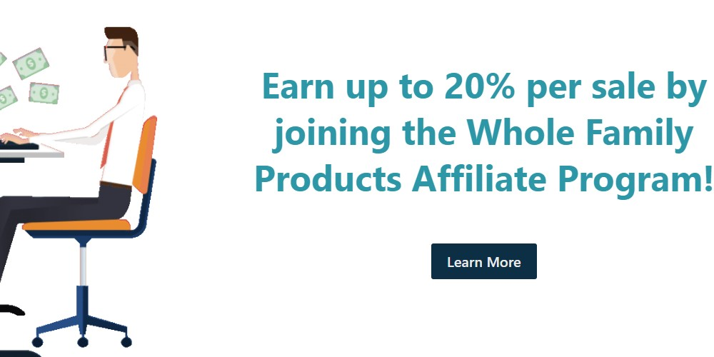 whole family products affiliate signup page