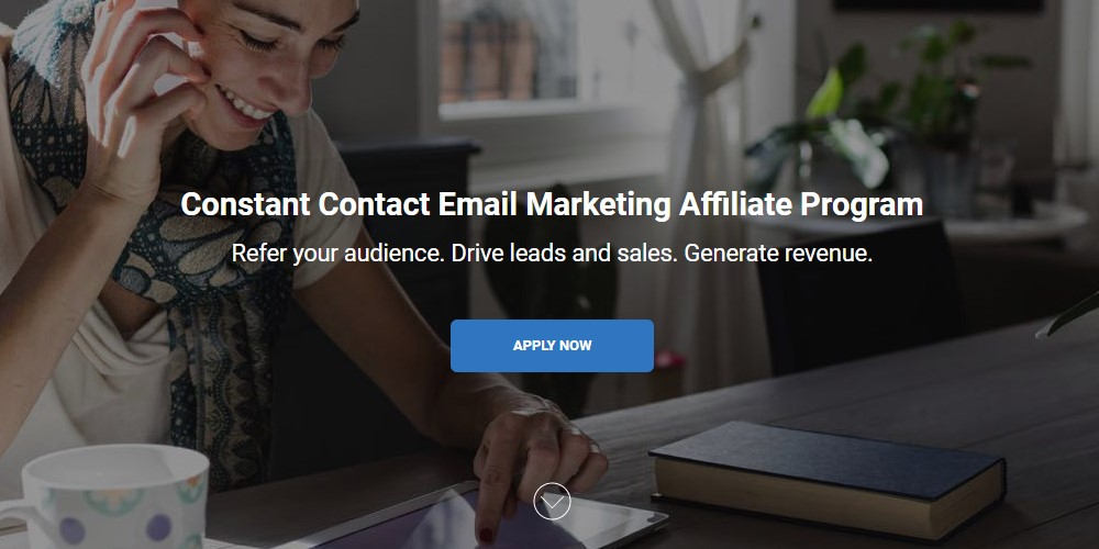 constant contact affiliate sign up page
