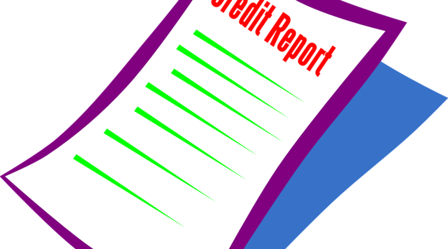 The image shows a single credit report illustration. Credit repair affiliate programs will typically need three of these and affiliates can earn commissions on the reports, the services or the software.