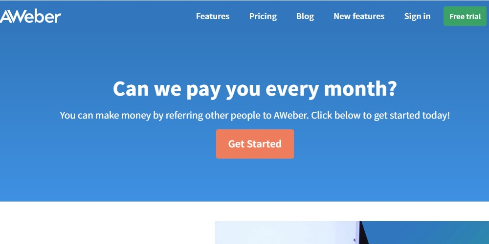 aweber affiliate sign up page