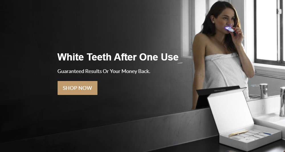 billionaire teeth whitening home page
