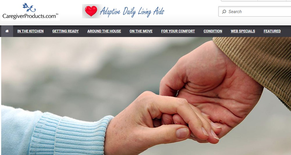 caregiver products home page