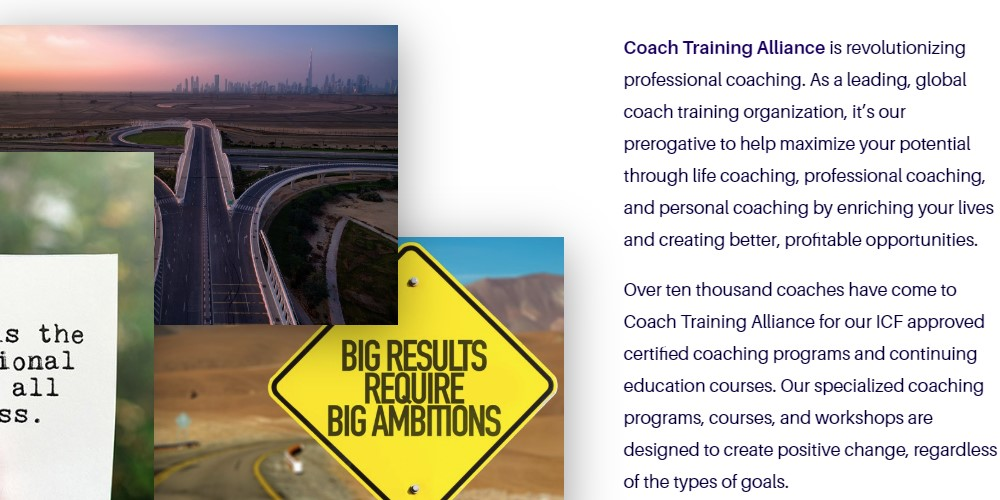 coach training alliance home page