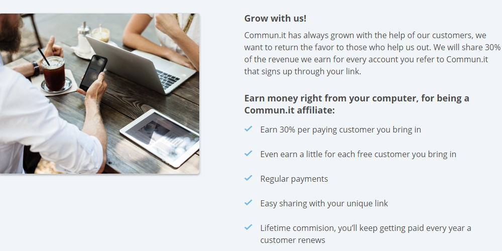 commun.it affiliate sign up page