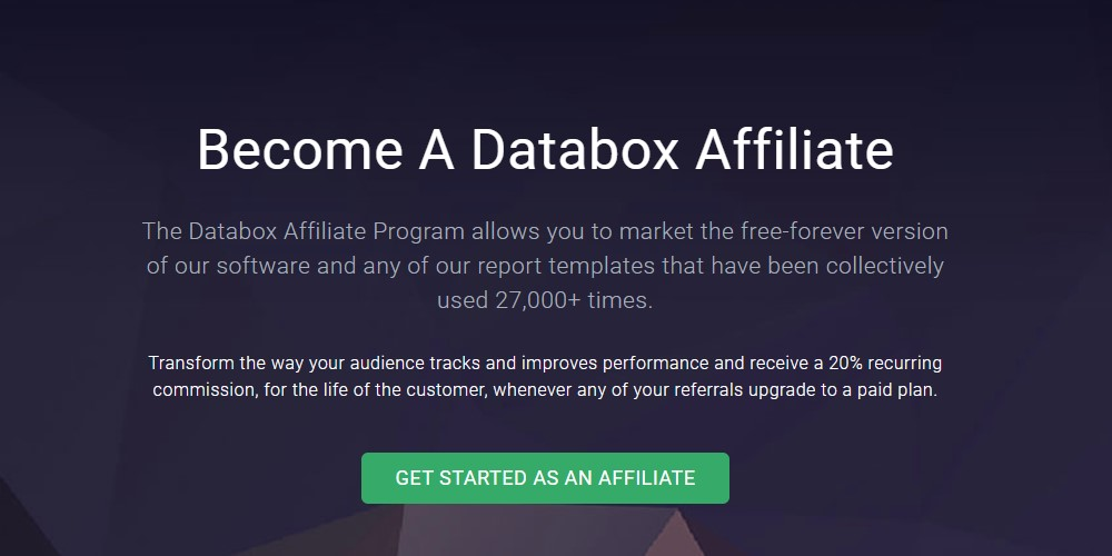 data box affiliate sign up page