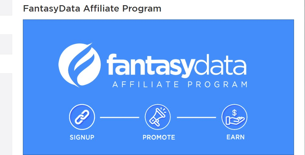 fantasy data affiliate sign up page