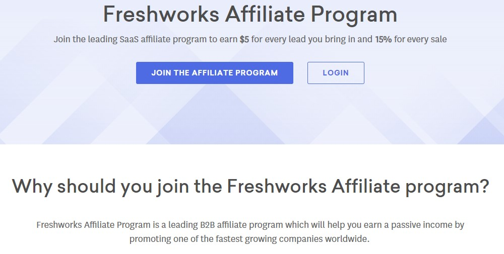 fresh works affiliate sign up page
