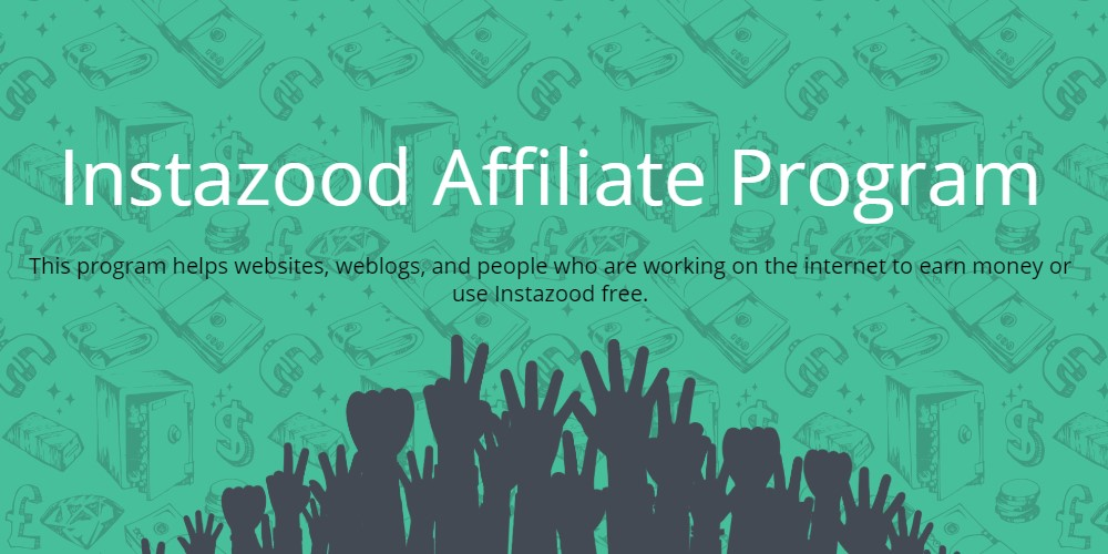instazood affiliate sign up page