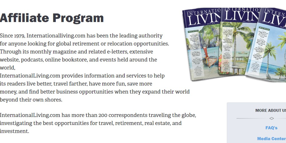international living affiliate sign up page
