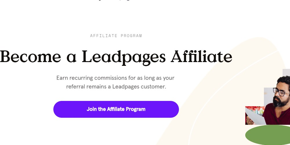 lead pages affiliate sign up page