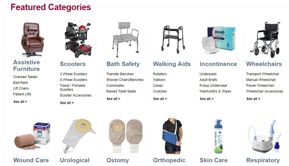 medical supply depot home page