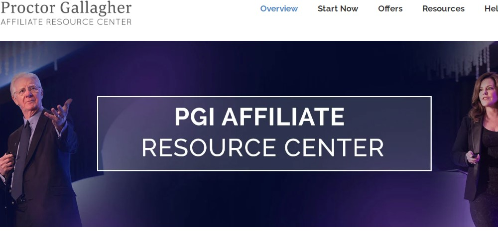 proctor gallagher institute affiliate sign up page