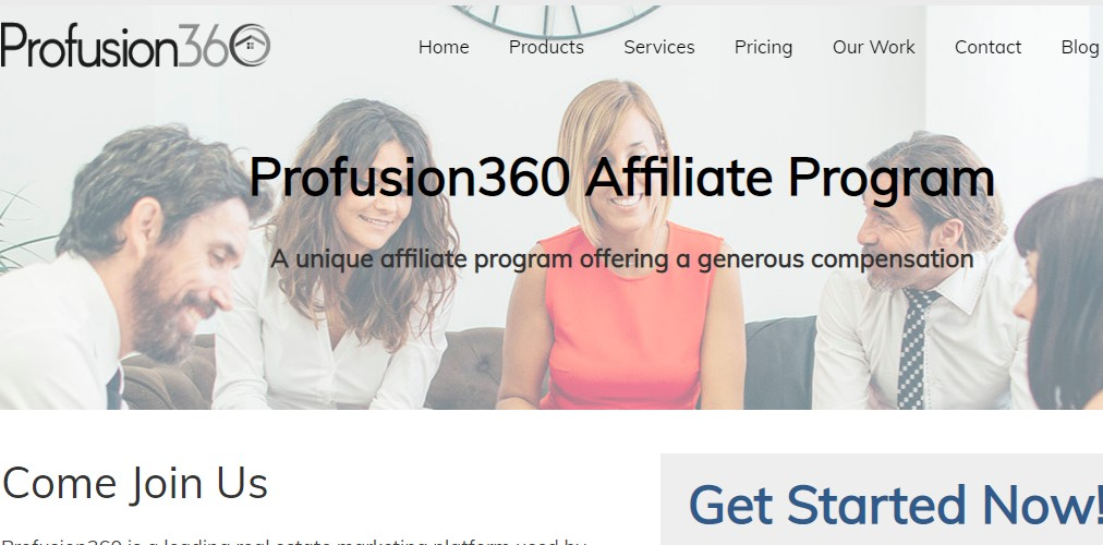 profusion 360 affiliate sign up page