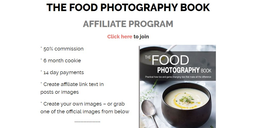 recipe tin eats affiliate sign up page