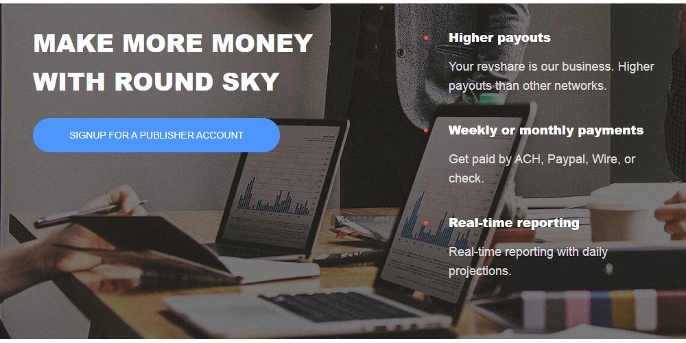 round sku affiliate sign up page
