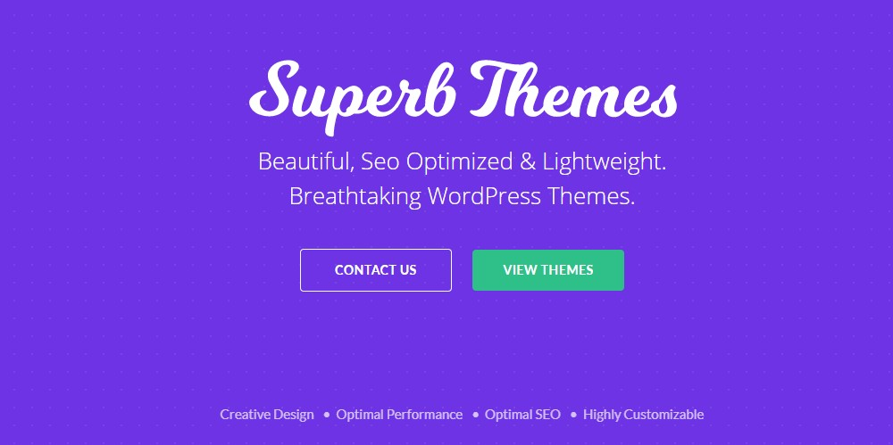 superb themes home page