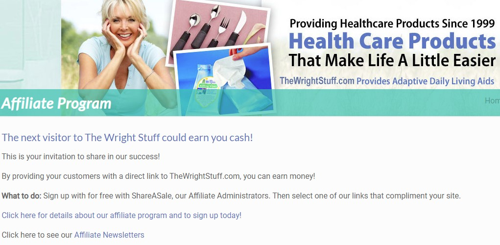 the wright stuff affiliate sign up page