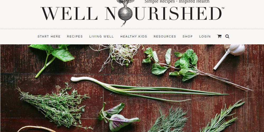 well nourished affiliate sign up page
