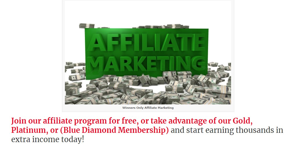 winners only lottery affiliate sign up page