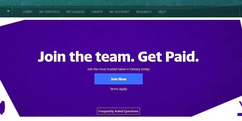 yahoo fantasy affiliate sign up page