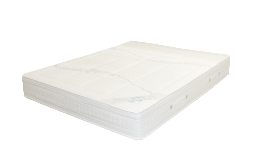 The image shows a photo of a new mattress without any bedding or accessories and is an example of how to promote mattress affiliate programs to show the product customers receive.