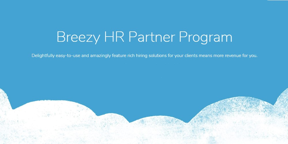 breezy hr affiliate sign up page