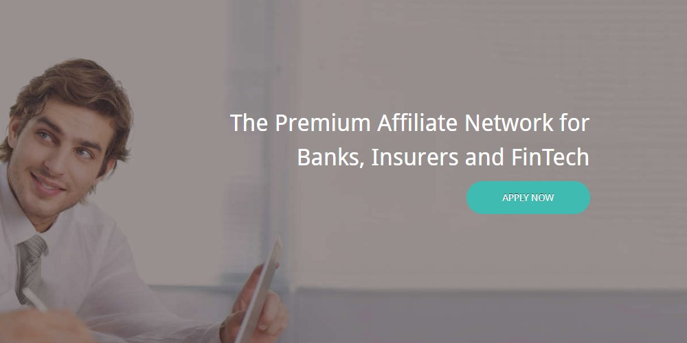 finance ads affiliate sign up page