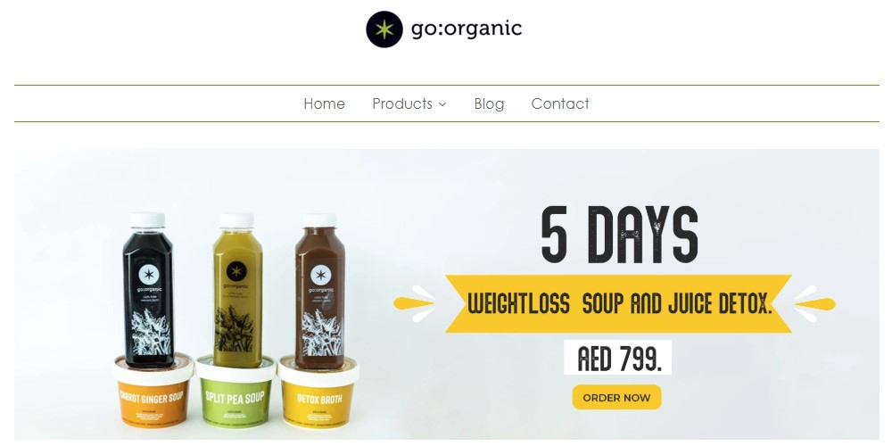 go organic home page