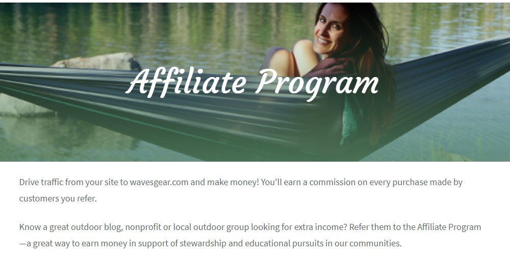 kawartha outdoor affiliate sign up page