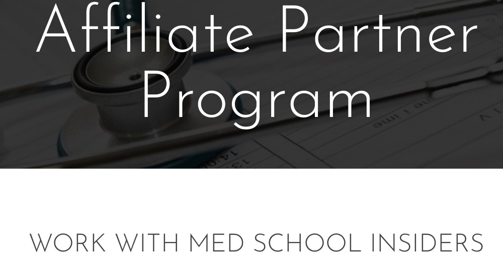 med school insiders affiliate sign up page