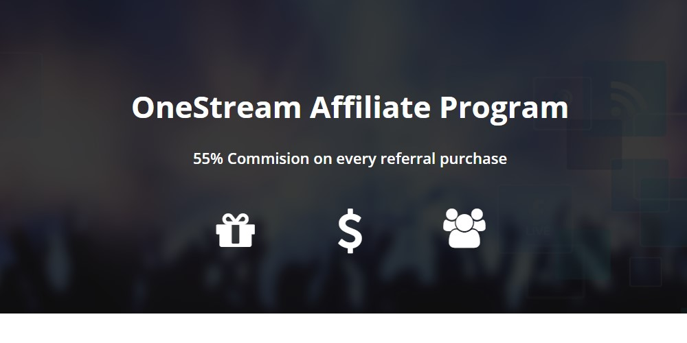 one stream affiliate sign up page