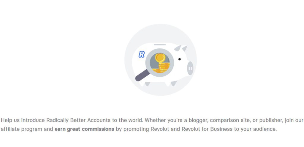 revolut affiliate sign up page