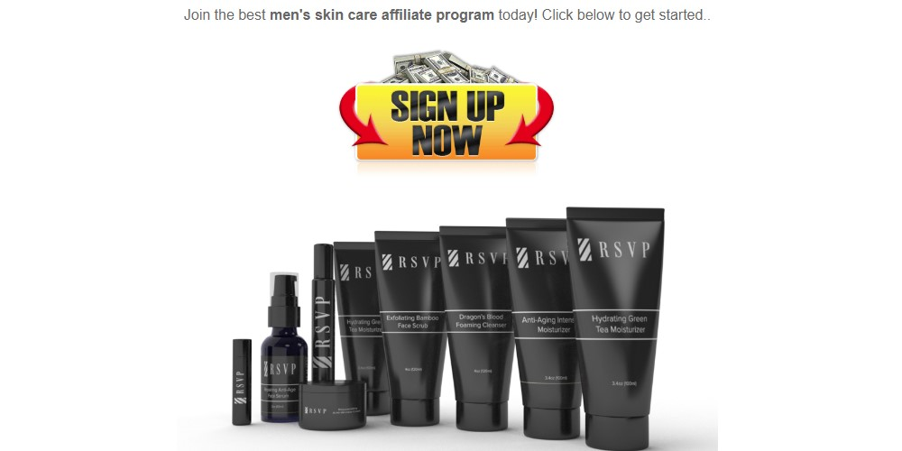 rsvp affiliate sign up page