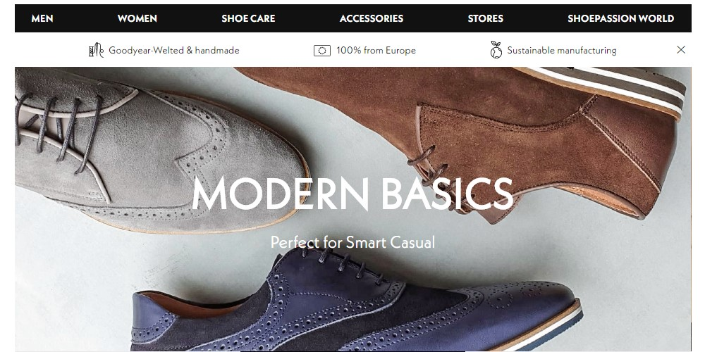 shoe passion home page