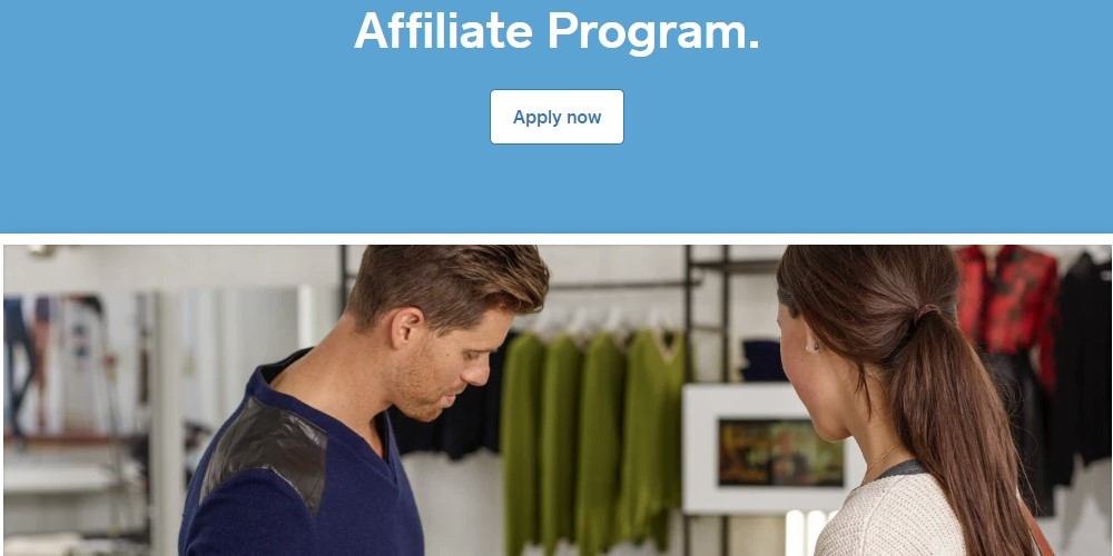 square affiliate sign up page