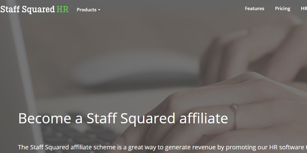 staff squared affiliate sign up page