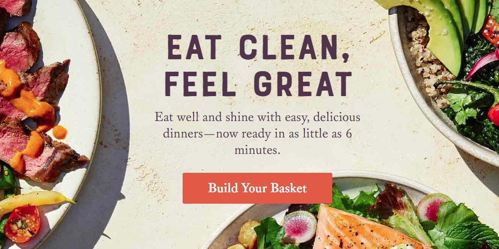 sun basket home page