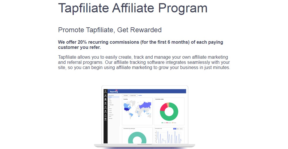 tapfiliate affiliate sign up page