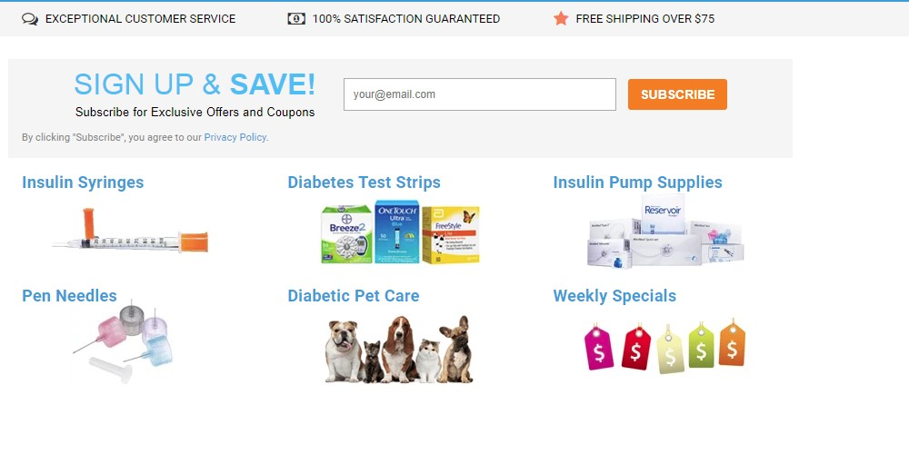 total diabetes supply home page