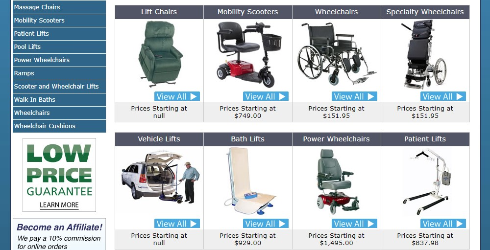 US Medical supplies home page