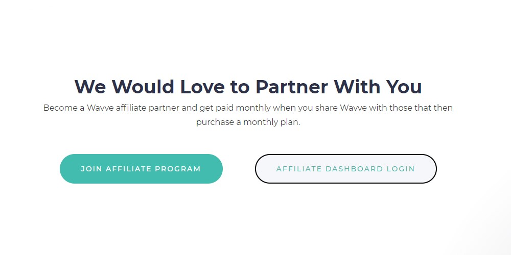 wavve affiliate sign up page