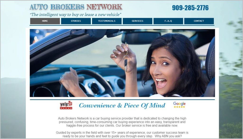Auto Broker's Network home page