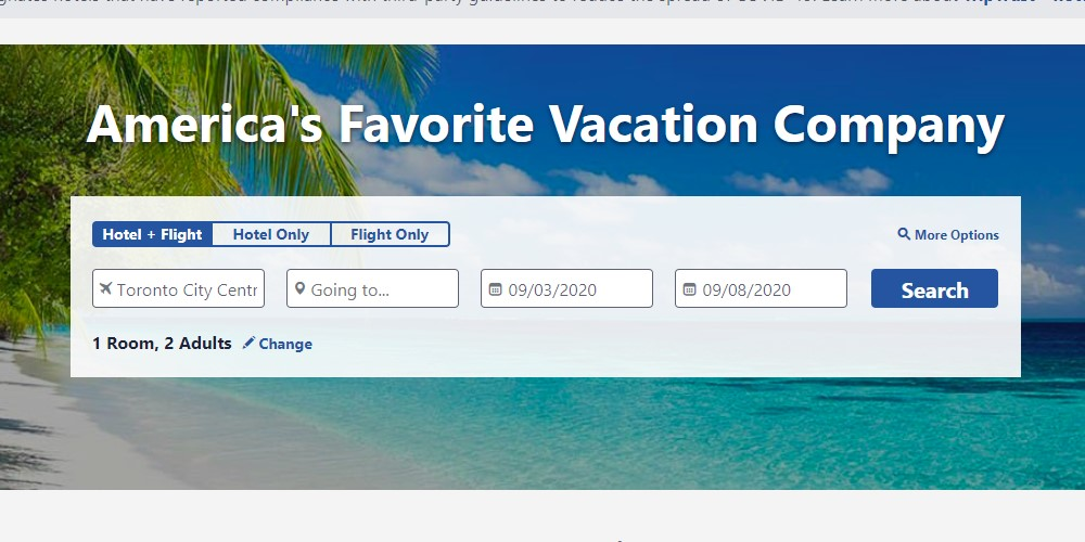 apple vacations home page