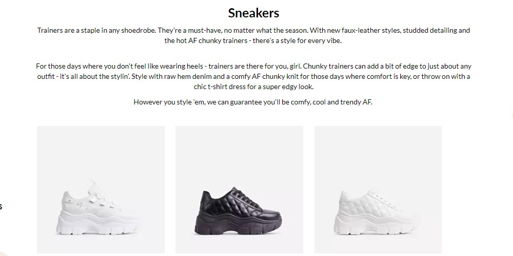 ego shoes sneakers category page