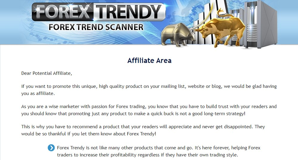 forex trendy affiliate sign up page