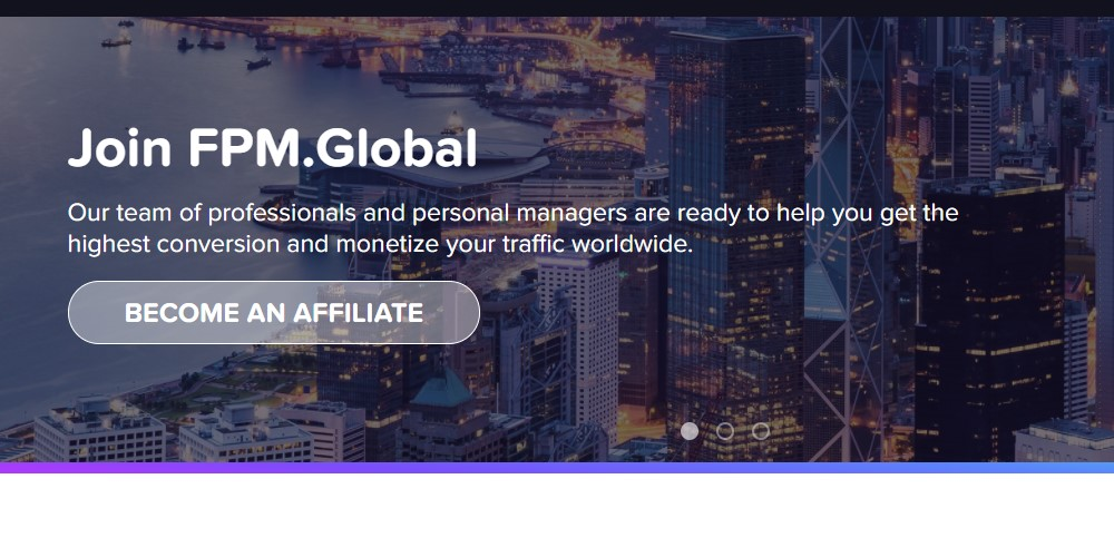 fpm global affiliate sign up page