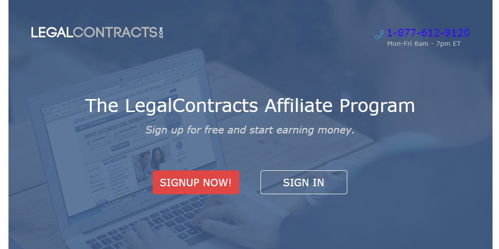 legal contracts home page
